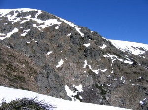 The north face of the mountain, from Staircase Spur