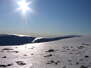 late afternoon, looking back across Cairn Gully
