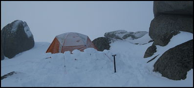camp on the Rams Head Range, Snowy Mountains